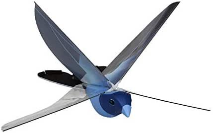 JUGUETRÓNICA- Robobird RC, pájaro Robot, Color Azul