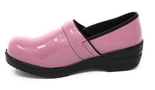 Rasolli Women's Professional Closed Back Clogs, Pink Breast Cancer Ribbon, Pink, Size - Apparel Ribbon Pink