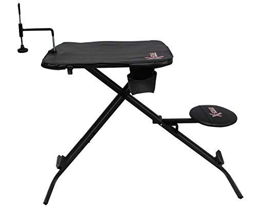 - X-Stand Treestands X-Ecutor Shooting Bench X-Ecutor Shooting Hunting Bench with 360 Degree Swivel Seat, Black