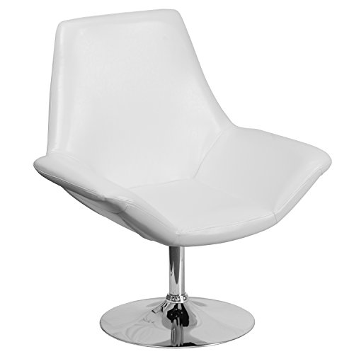 (Flash Furniture HERCULES Sabrina Series White Leather Side Reception Chair)