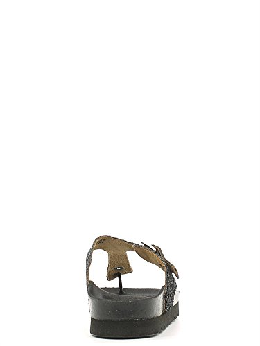 0639 argento infradito glitter GRUNLAND donna Nero Deck 5IZqpwz