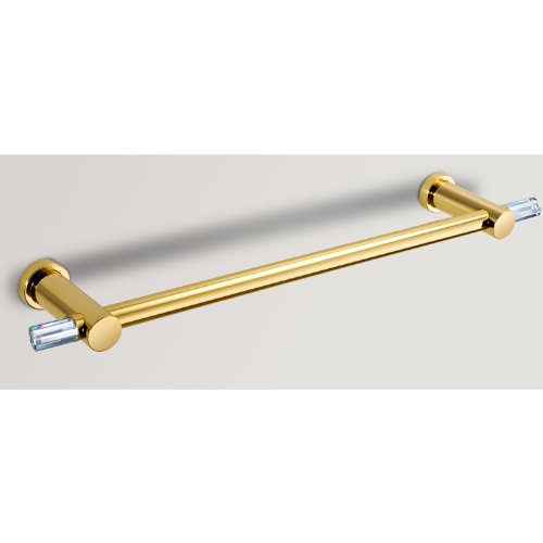 Windisch Crystal - Windisch 14 Inch Towel Bar with Swarovski Crystals in Gold or Chrome 85647