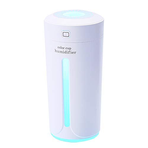 HSD Humidifier, Mini Humidifiers for Bedroom Baby, Premium Humidifying Unit with Whisper-Quiet Operation, Auto Shut-Off, Anti-Slip Handle, 12-24 Hours Working Time (White)
