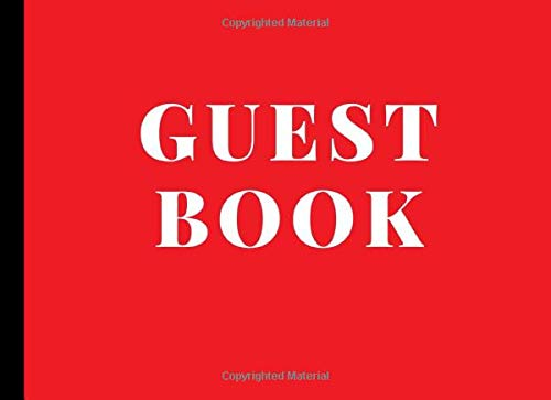 Guest Book: Sign In Guestbook for Any Occasion - Weddings, Funerals, Bridal Showers, Memorials, Birthday Parties | 100 Pages | Red Joyful Journals