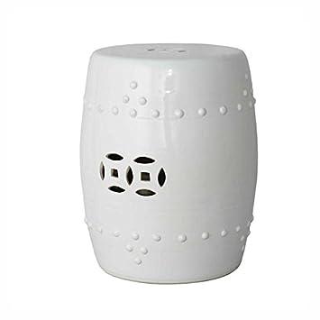 Good Amazon.com : Asian Traditional Ceramic White Garden Stool Seat Decorative  Porcelain Ceramic Circle Oriental Furniture : Garden U0026 Outdoor