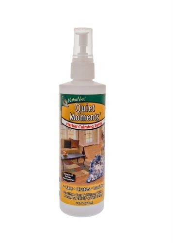 NaturVet Quiet Moments Herbal Calming Spray, 8 Ounce- Feline, My Pet Supplies