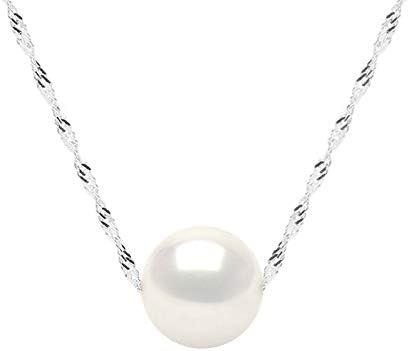 """P7430 100/"""" 10 mm Blanc Rond d/'eau douce /& Keshi Goutte Perle Zircon Cubique Perle Collier"""