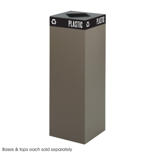 Safco Products 2984BR Public Square Recycling Trash Can Base, 42-Gallon (Top sold separately), Brown