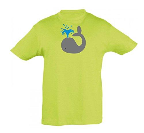 o manzana ni a os camiseta 2store24 ballena verde de para Ni ni y g4qgwS0