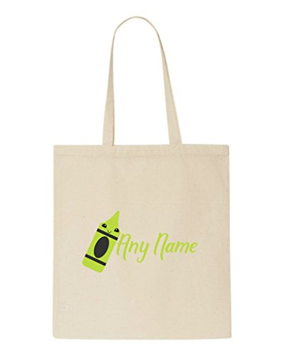 To Back With Shopper Appreciation Teacher Tote Bag Text Gift School Crayon Beige Personalised Green xw4q6XnI