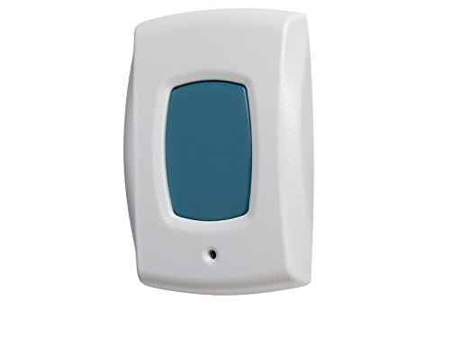 Linear NAPPAN01 Supervised Wireless 1-Button Panic/Alert Transmitter, White with Green Button