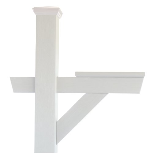 Highwood Hazleton Mailbox Post, White (White Plastic Post)