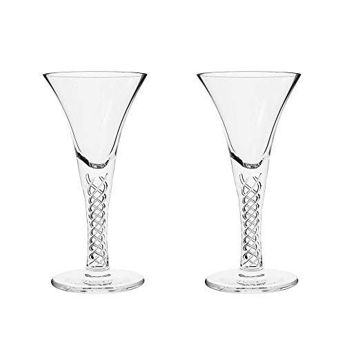 - Royal Scot Crystal Hand Cut Crystal Jacobean Air Twist Port Sherry Glasses | Scottish Inspired Design