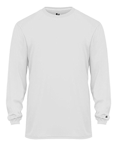 White Baseball Undershirt (White Adult Small Long Sleeve Performance Wicking Athletic Sports Shirt/Undershirt/Jersey)