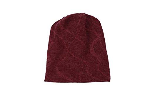 Winter red gorro libre de Soft Hat Knitting rojo al Warm Ear diario Thick Mens aire esquí HdnSqZwS