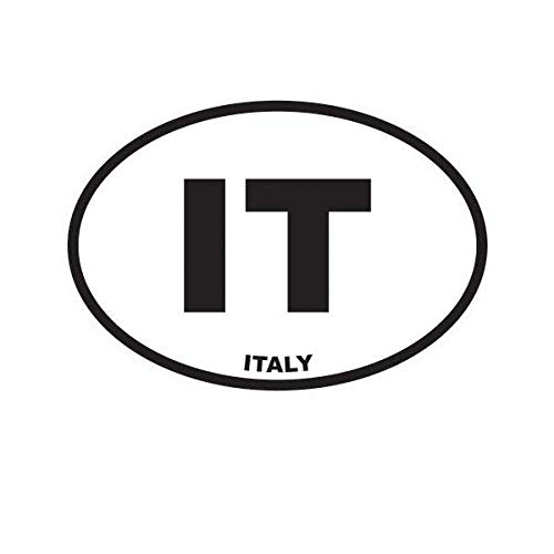 ION Graphics Italy Oval Sticker Decal Vinyl Italian Country Code Euro IT v3 5