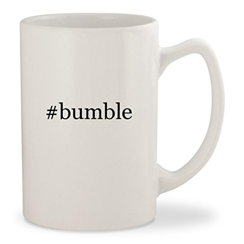 Bumble   White Hashtag 14Oz Ceramic Statesman Coffee Mug Cup