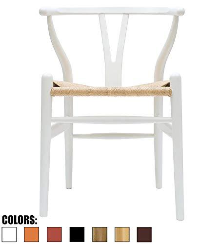 2xHome CH-BoneChair(White) Dining Chair