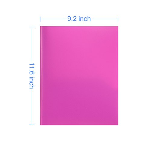 COMIX 2 Pocket Letter Size Poly File Portfolio Folder with Three-Prong Fastners - 12 Pack (Pink Violet Purple) Photo #3