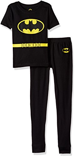 DC Comics Toddler 'Batman Justice League' Costume Cotton Snug Pajama Set, black, -