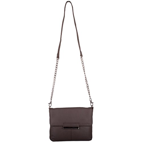 Bag Womens Soft Shoulder Taupe Cross Bag Hand Premium Leather Clutch Body rApxqrzFw
