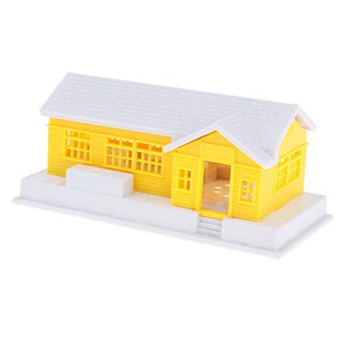 Flameer Miniature House HO Scale Model Railway Diorama 1:87 Train Model Building