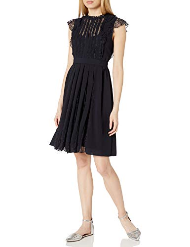 French Connection Women's All Over Lace Dresses, Utility Blue, 4