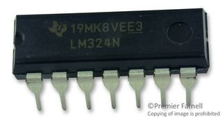 Texas Instruments LM324N Quad Operational Amplifier (Pack of 5) (Quad Operational Amplifier)