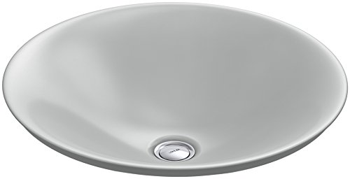 KOHLER K-7806-95 Carillon Wading Pool Round Above-Counter Bathroom Sink, Ice Grey 95 Ice Grey Vessels