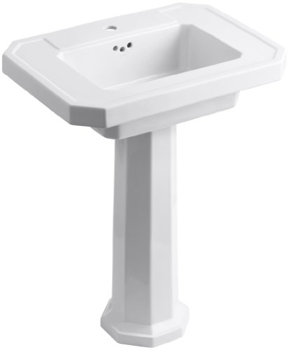 UPC 087206885594, KOHLER K-2322-1-0 Kathryn Pedestal Bathroom Sink with Single-Hole Faucet Drilling, White