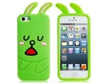 Cartoon Rabbit Silicone Case for iPhone 5 (Green) ( by molona ) good product
