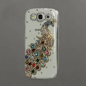 Leegoal£¨TM£©4C Rhinestone and Diamond Bling -Multi-color Peacock Crystal Clear Case for Samsung Galaxy S3/III I9300