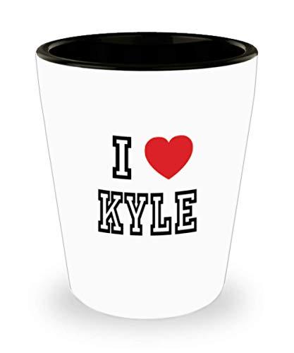 White Ceramic Shot Glass I Love Kyle Mug Lover Gift Coffee Funny Idea Tea Cup Cute Ceramic Present Gag,al2840 -