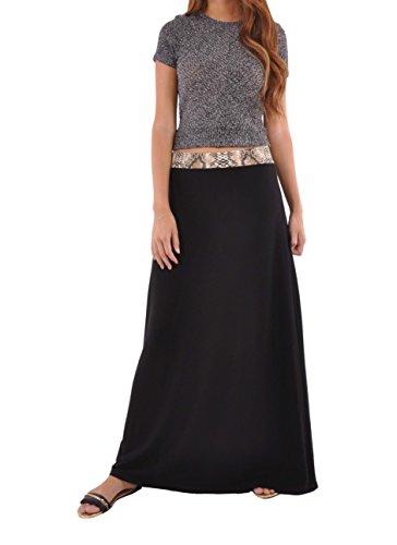 J Jersey Black Maxi Skirt