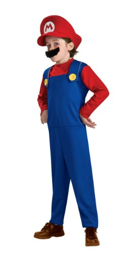 Popular Video Costumes Game (Super Mario Brothers Toddler Costume, Mario, Toddler (US Size)