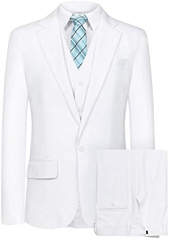 メンズスーツスリーピース スリム メンズ ビジネス 2つボタン スーツ スタイリッシュ 入社式/卒業式/就職/結婚式 礼服 防シワ 大きいサイズ SI82 [並行輸入品]