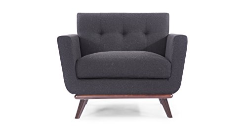 Kardiel Jackie Mid-Century Modern Classic Chair, Charcoal...