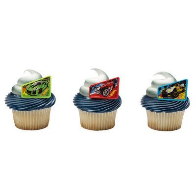 Hot Wheels Way 2 Fast Cupcake Rings - 24 pc -