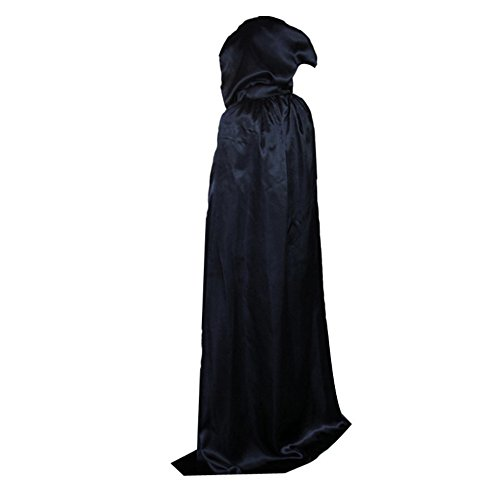 Pannow Halloween Festival Magic Wizard Witch Hooded Cloak Floor-Length Costume (Past Costumes)