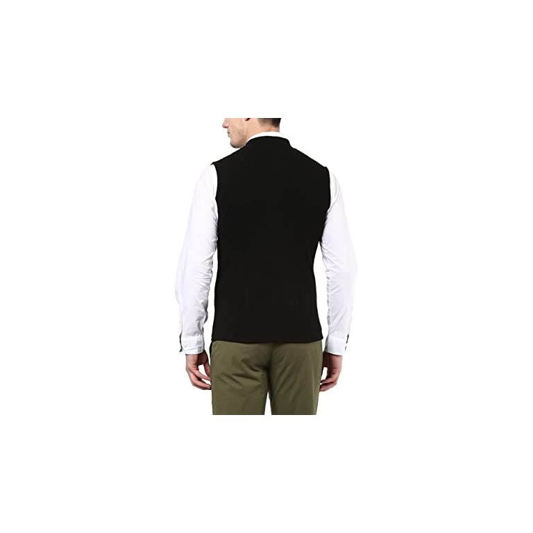 31MXii6yLwL. SS768  - HYPERNATION Black Color Cotton Casual Waistcoat