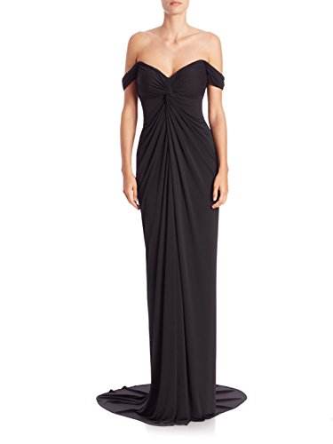 Gown Size Formal Shoulder Jersey Women's David Draped The Meister 2 Black Off nqvxB8A7