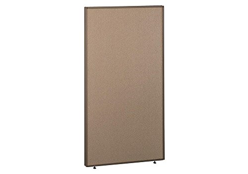 Panel 36W x 66H Dimensions: 36.125''W x 1.875''D x 66.875''H Weight: 41 lbs Harvest Tan Fabric/Taupe Frame by Bush Business Furniture