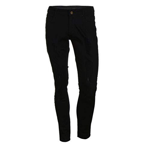 Nero Stretti Jeans Uomo A Abbigliamento Vita Neri Casual Aderenti Alta Pantaloni FAwrqvzF