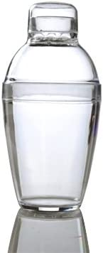 200ml Clear 7oz Set of 3 Heavy Duty Plastic Small Cocktail Shakers