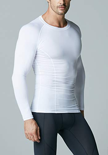 ATHLIO AO-BLS01-WHT_2X-Large Men's (Pack of 3) Cool Dry Compression Long Sleeve Baselayer Athletic Sports T-Shirts Tops BLS01 by ATHLIO (Image #8)