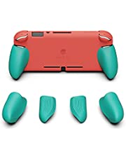 Skull & Co. GripCase Lite: A Comfortable Protective Case with Replaceable Grips [to fit All Hands Sizes] for Nintendo Switch Lite [No Carrying Case]- Pink Citrus