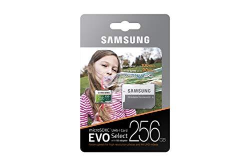 Samsung 256GB 100MB/s (U3) MicroSDXC EVO Select Memory Card with Adapter (MB-ME256GA/AM) by Samsung (Image #8)