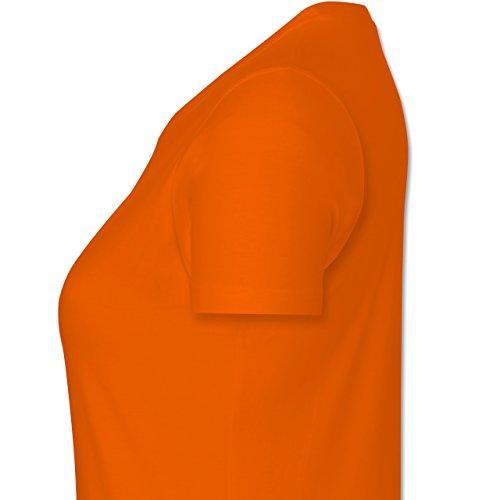 JGA Junggesellinnenabschied - Verlobter im Warenkorb - L - Orange - L191 - tailliertes Premium T-Shirt mit Rundhalsausschnitt für Damen