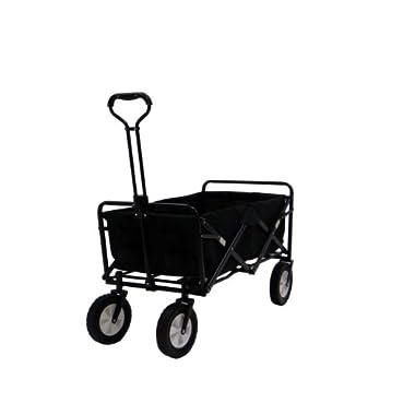Portable Folding Utility Wagon in Black