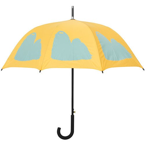 Shih Tzu Umbrella Blue on Yellow 34.5